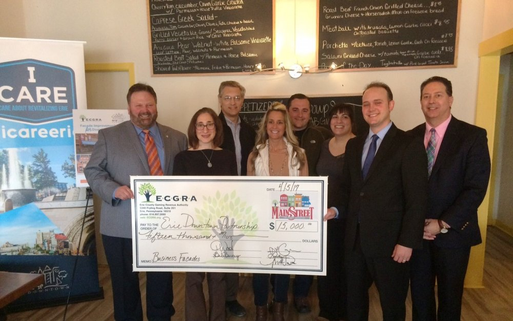 ERIE DOWNTOWN PARTNERSHIP AND ECGRA ANNOUNCE 2017 FAÇADE GRANTS FUELED BY LOCAL SHARE GAMING REVENUE